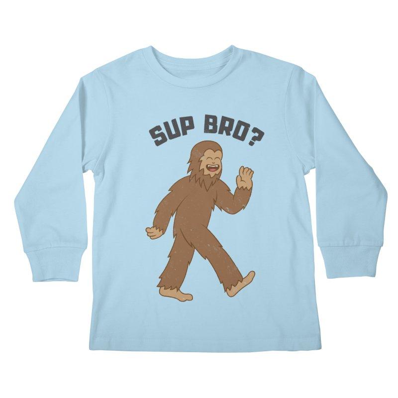 Sup Bigfoot Kids Longsleeve T-Shirt by Pete Styles' Artist Shop