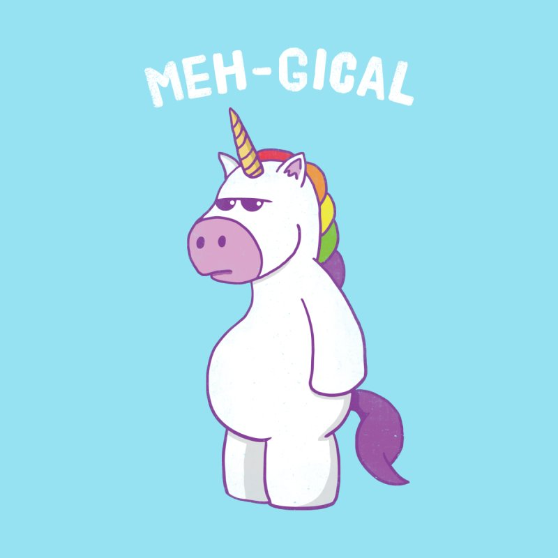 The Meh-gical Unicorn Kids T-Shirt by Wasabi Snake