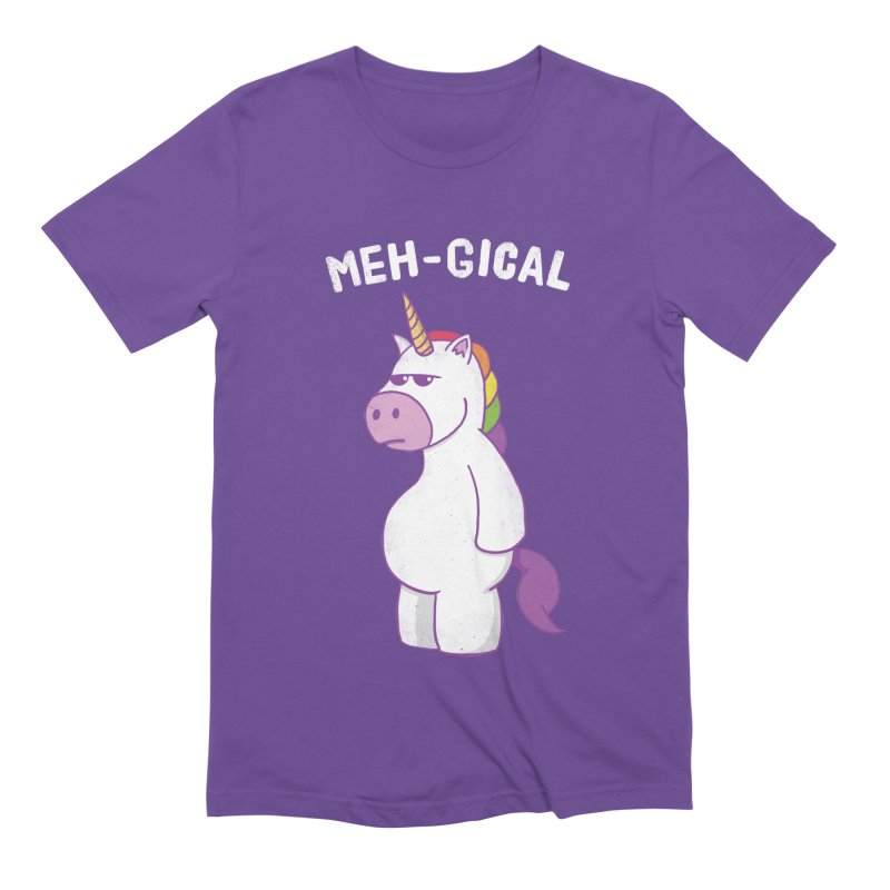 The Meh-gical Unicorn Men's Extra Soft T-Shirt by Wasabi Snake