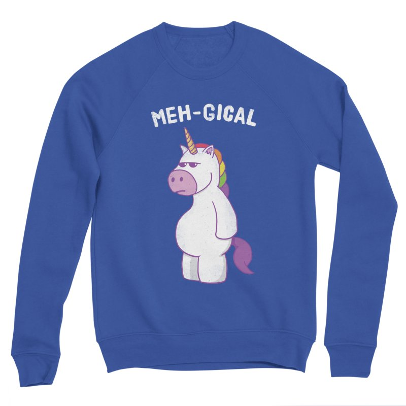 The Meh-gical Unicorn Men's Sponge Fleece Sweatshirt by Wasabi Snake