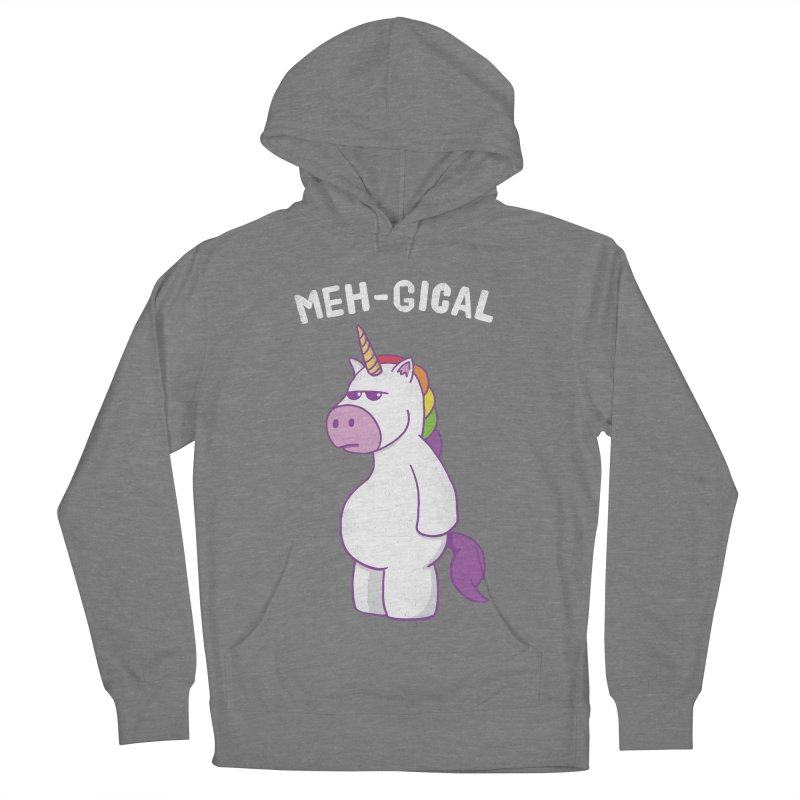 The Meh-gical Unicorn Women's Pullover Hoody by Wasabi Snake