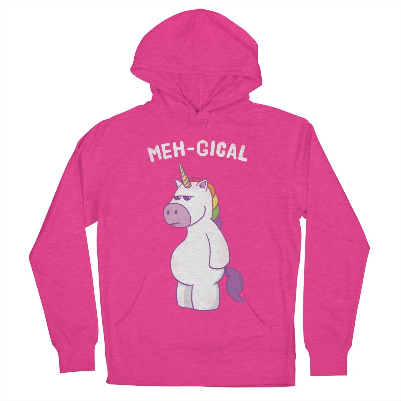 The Meh-gical Unicorn Men's French Terry Pullover Hoody by Wasabi Snake