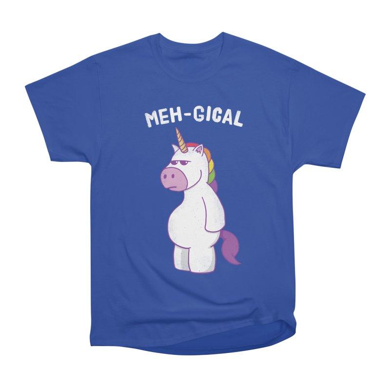 The Meh-gical Unicorn Men's Heavyweight T-Shirt by Wasabi Snake