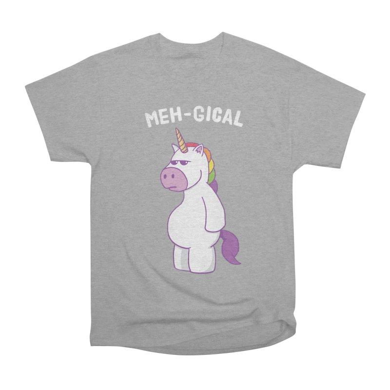 The Meh-gical Unicorn Women's Heavyweight Unisex T-Shirt by Wasabi Snake