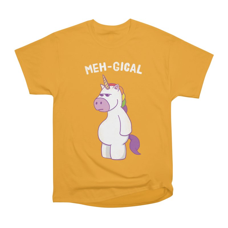 The Meh-gical Unicorn Women's Heavyweight Unisex T-Shirt by Pete Styles' Artist Shop