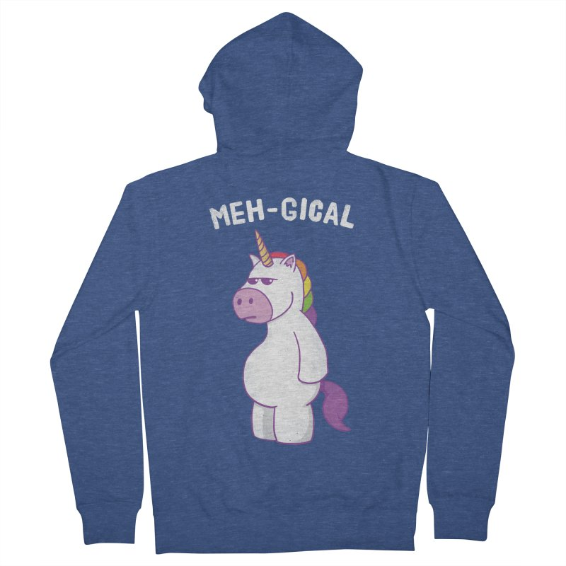 The Meh-gical Unicorn Women's French Terry Zip-Up Hoody by Wasabi Snake
