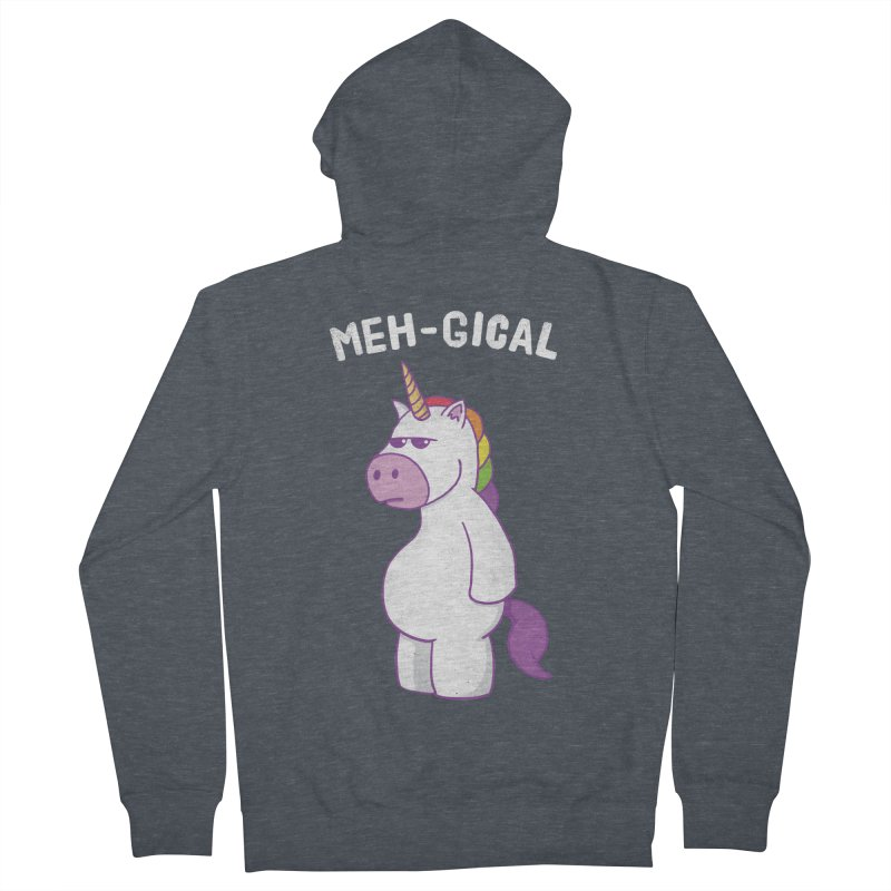 The Meh-gical Unicorn Men's French Terry Zip-Up Hoody by Wasabi Snake