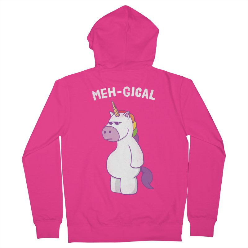 The Meh-gical Unicorn Men's Zip-Up Hoody by Pete Styles' Artist Shop