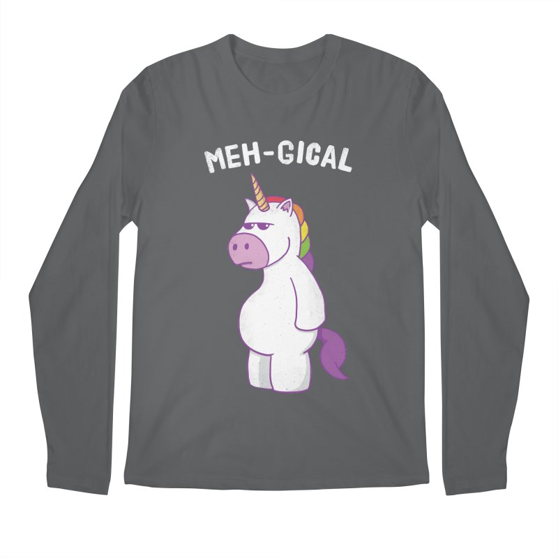 The Meh-gical Unicorn Men's Longsleeve T-Shirt by Wasabi Snake