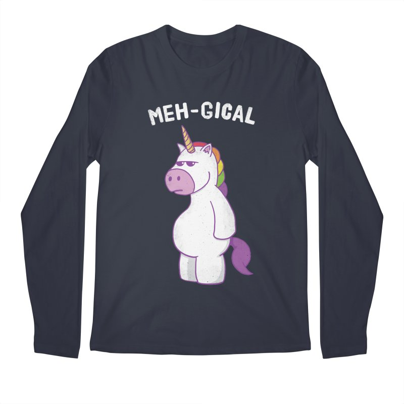 The Meh-gical Unicorn Men's Regular Longsleeve T-Shirt by Wasabi Snake
