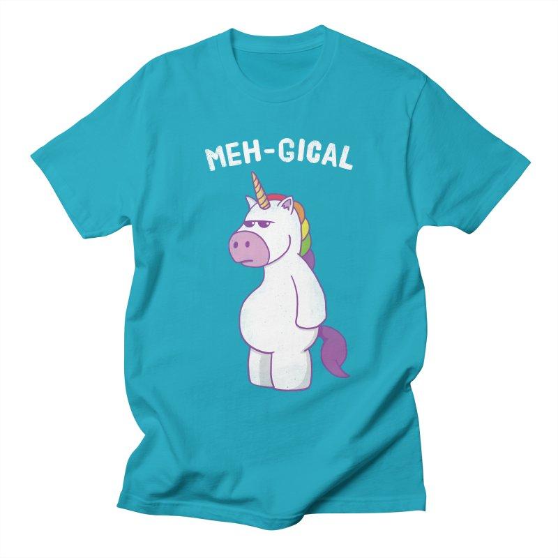 The Meh-gical Unicorn Women's Regular Unisex T-Shirt by Wasabi Snake