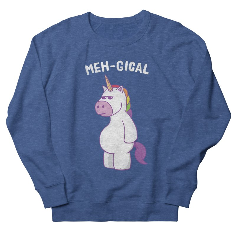 The Meh-gical Unicorn Women's French Terry Sweatshirt by Wasabi Snake