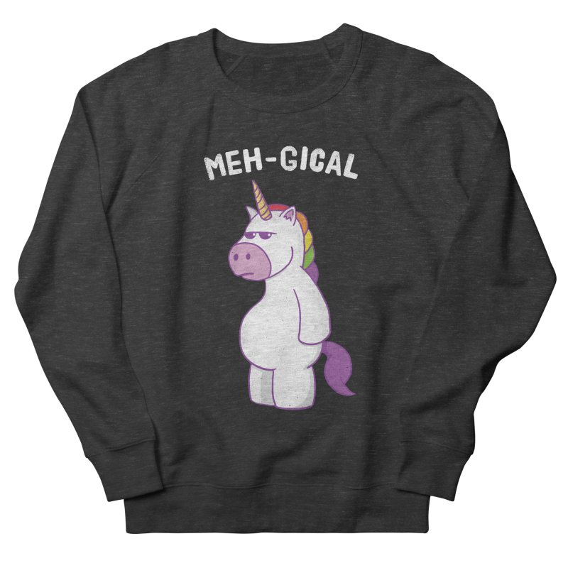 The Meh-gical Unicorn Men's French Terry Sweatshirt by Wasabi Snake