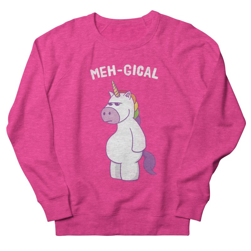 The Meh-gical Unicorn Men's Sweatshirt by Pete Styles' Artist Shop