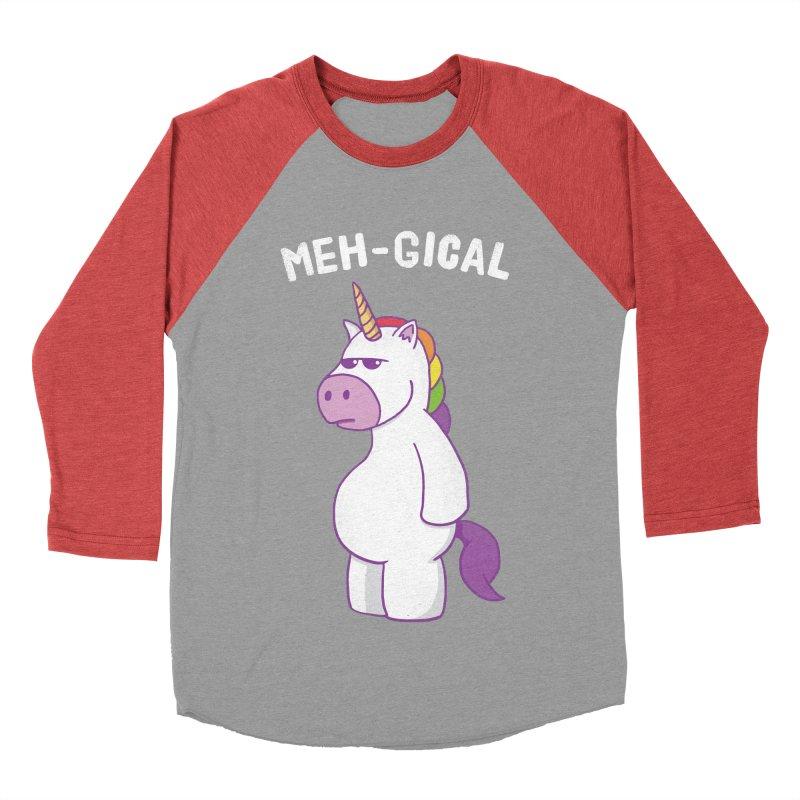 The Meh-gical Unicorn Women's Baseball Triblend T-Shirt by Pete Styles' Artist Shop