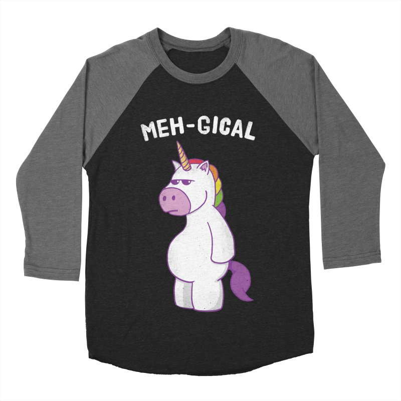 The Meh-gical Unicorn Men's Baseball Triblend Longsleeve T-Shirt by Wasabi Snake