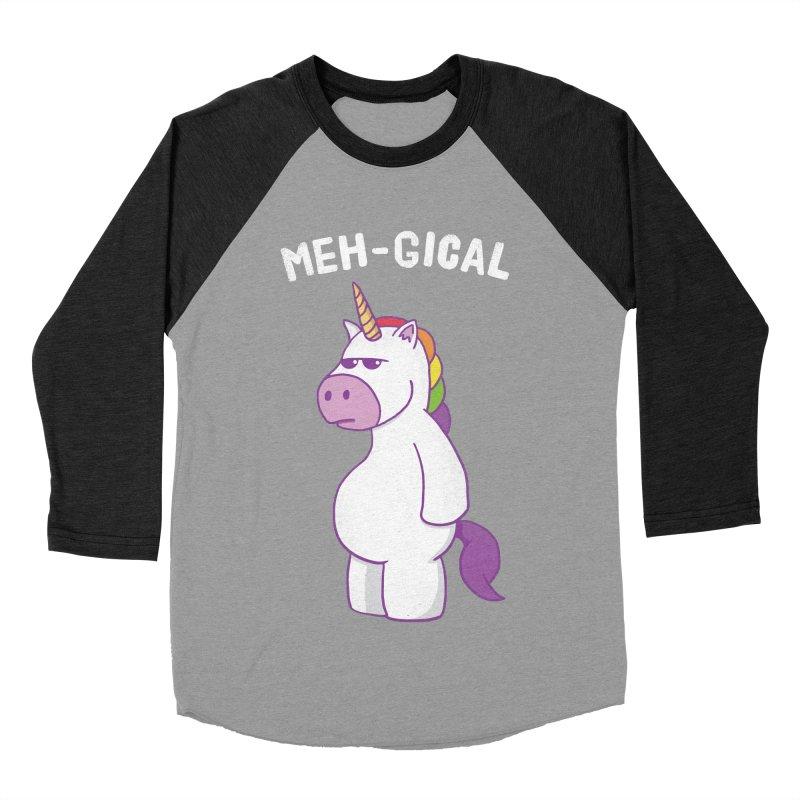 The Meh-gical Unicorn Men's Baseball Triblend Longsleeve T-Shirt by Wasabi Snake
