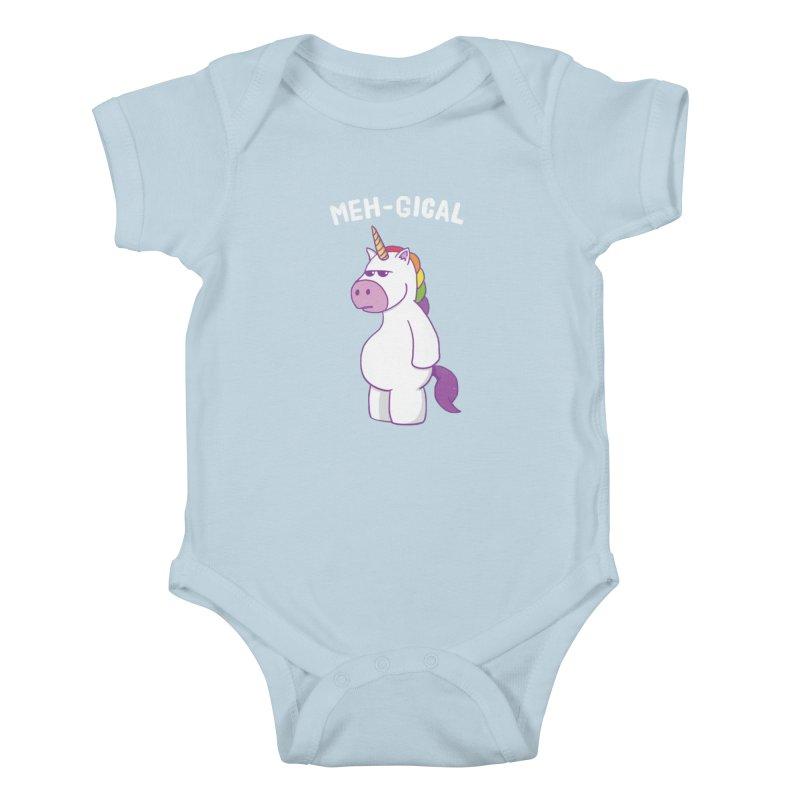 The Meh-gical Unicorn Kids Baby Bodysuit by Wasabi Snake
