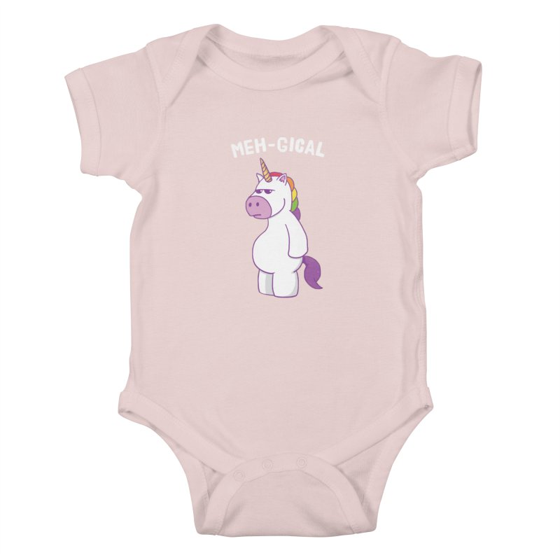 The Meh-gical Unicorn Kids Baby Bodysuit by Wasabi Snake