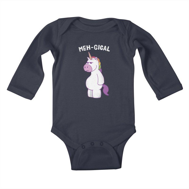 The Meh-gical Unicorn Kids Baby Longsleeve Bodysuit by Wasabi Snake