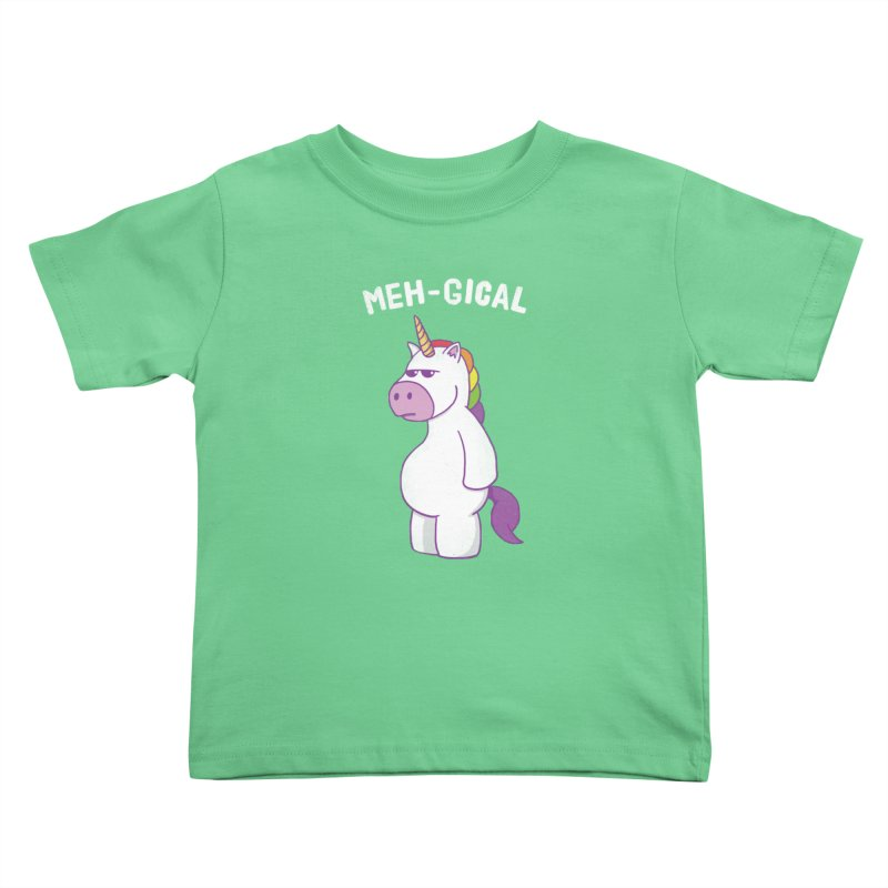 The Meh-gical Unicorn Kids Toddler T-Shirt by Pete Styles' Artist Shop