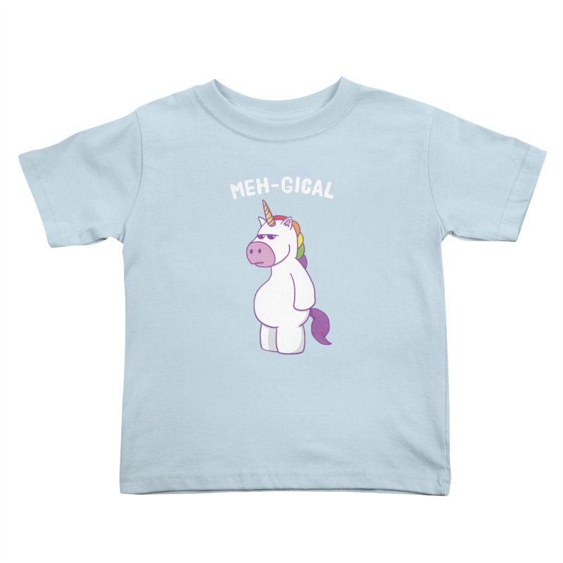 The Meh-gical Unicorn Kids Toddler T-Shirt by Wasabi Snake
