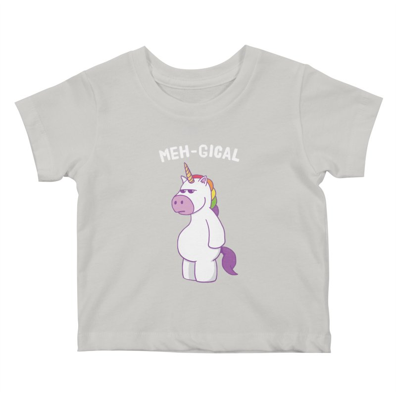 The Meh-gical Unicorn Kids Baby T-Shirt by Pete Styles' Artist Shop