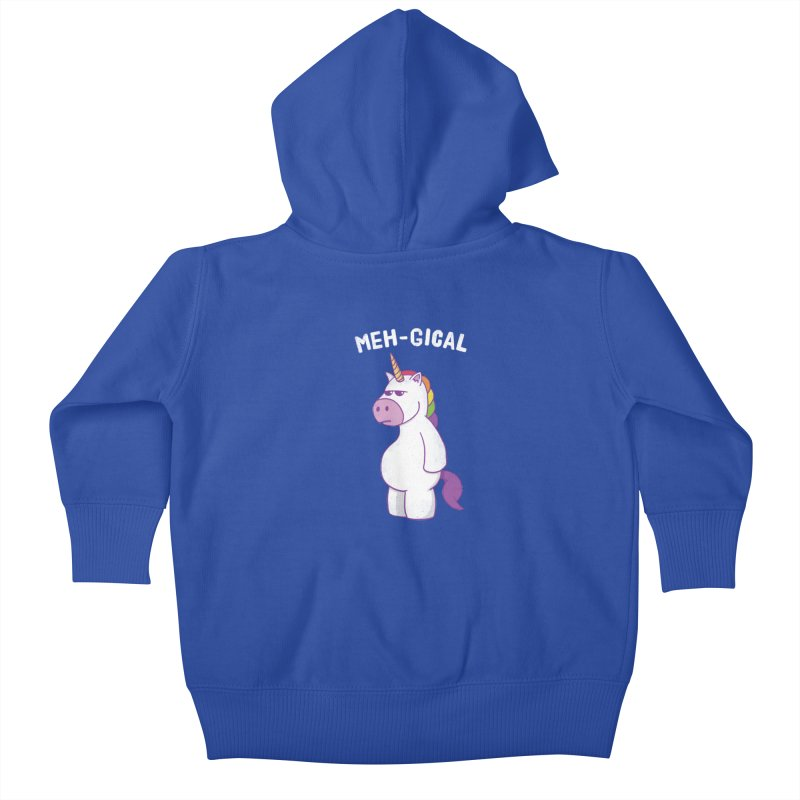 The Meh-gical Unicorn Kids Baby Zip-Up Hoody by Wasabi Snake