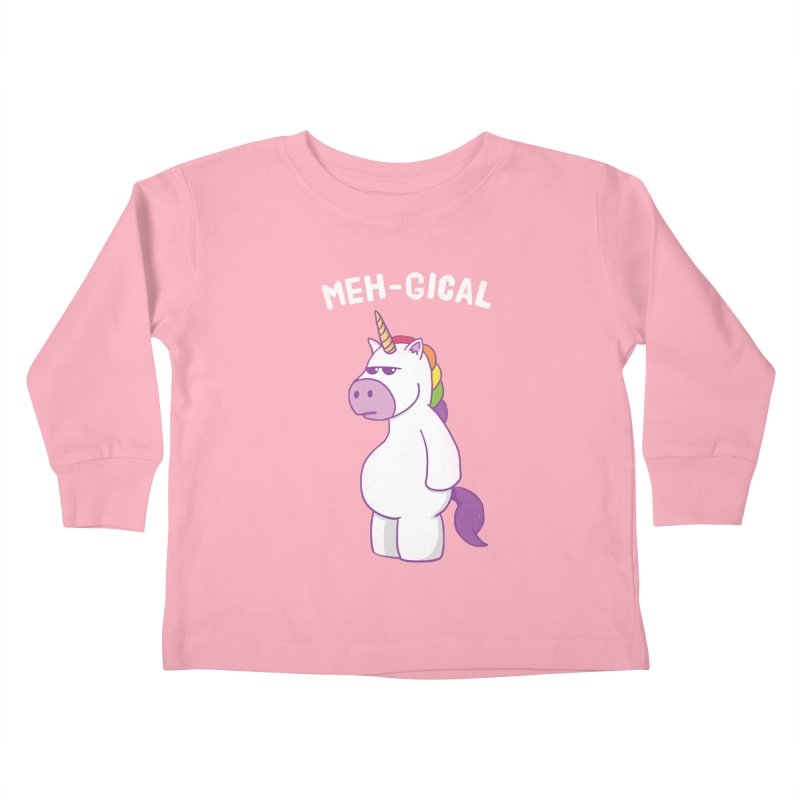 The Meh-gical Unicorn Kids Toddler Longsleeve T-Shirt by Wasabi Snake
