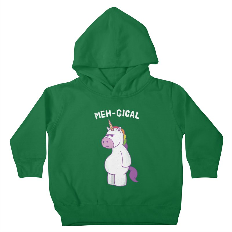 The Meh-gical Unicorn Kids Toddler Pullover Hoody by Pete Styles' Artist Shop