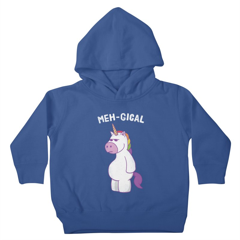 The Meh-gical Unicorn Kids Toddler Pullover Hoody by Wasabi Snake