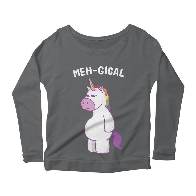 The Meh-gical Unicorn Women's Scoop Neck Longsleeve T-Shirt by Wasabi Snake
