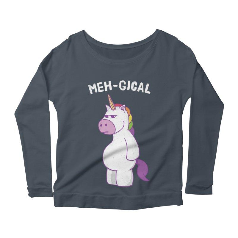 The Meh-gical Unicorn Women's Scoop Neck Longsleeve T-Shirt by Wasabi Snake