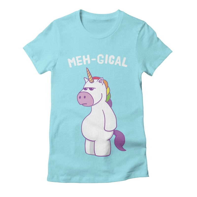 The Meh-gical Unicorn Women's Fitted T-Shirt by Pete Styles' Artist Shop