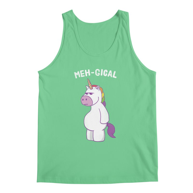 The Meh-gical Unicorn Men's Regular Tank by Wasabi Snake