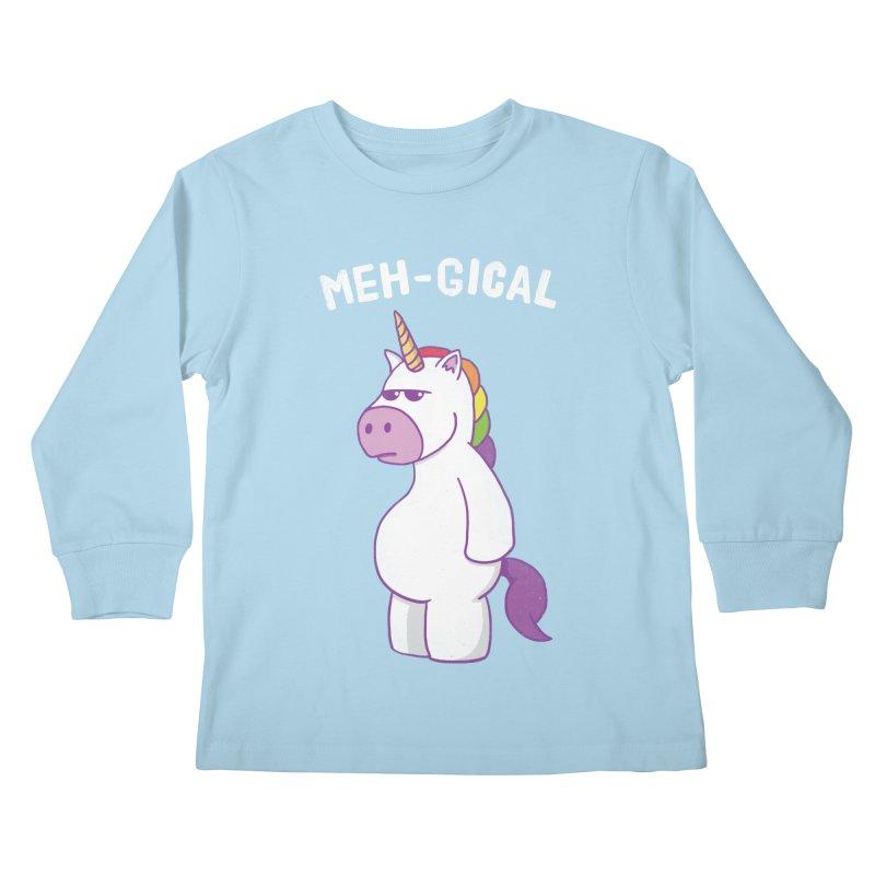 The Meh-gical Unicorn Kids Longsleeve T-Shirt by Wasabi Snake