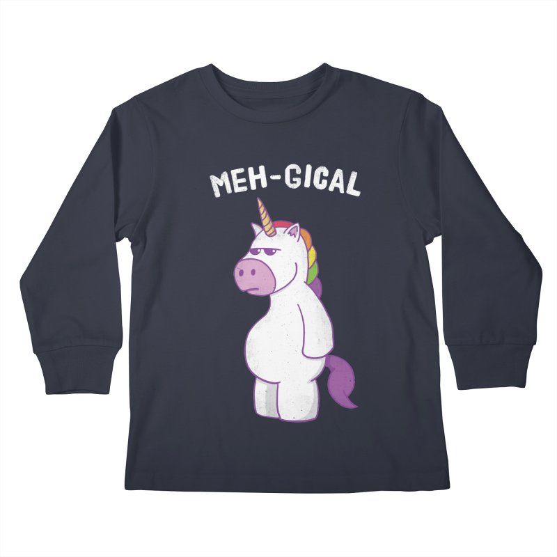 The Meh-gical Unicorn Kids Longsleeve T-Shirt by Wasabi Snake