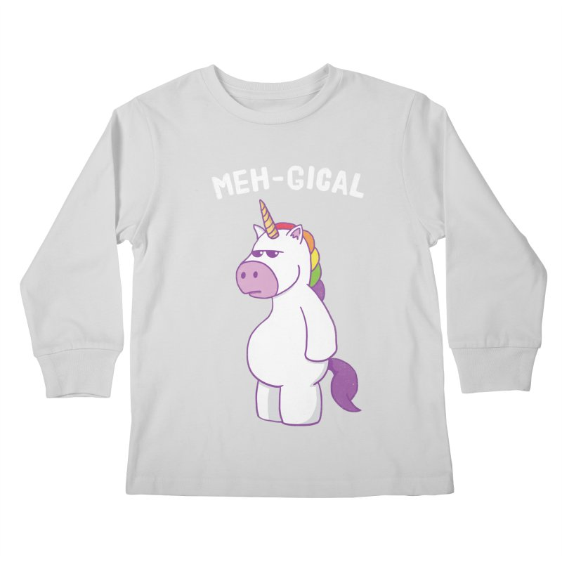 The Meh-gical Unicorn Kids Longsleeve T-Shirt by Pete Styles' Artist Shop