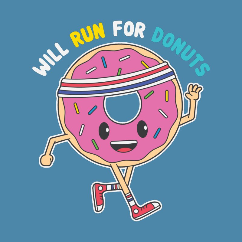Will Run For Donuts Women's T-Shirt by Wasabi Snake