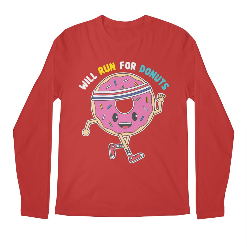 Will Run For Donuts Men's Longsleeve T-Shirt by Wasabi Snake