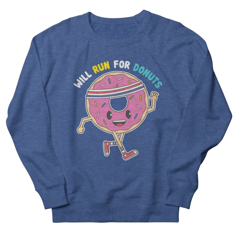 Will Run For Donuts Men's Sweatshirt by Wasabi Snake