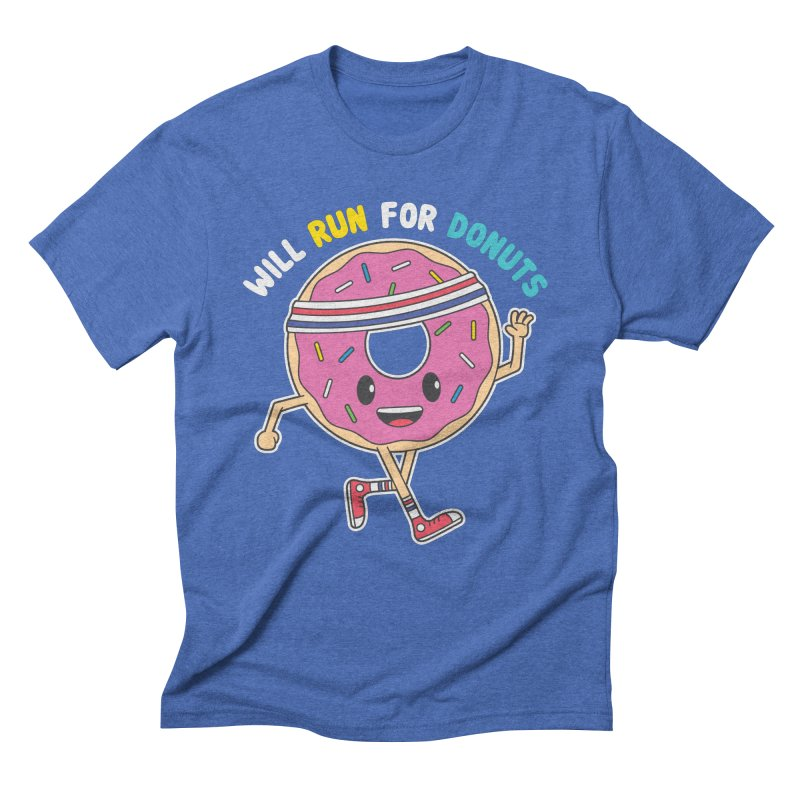 Will Run For Donuts Men's T-Shirt by Wasabi Snake