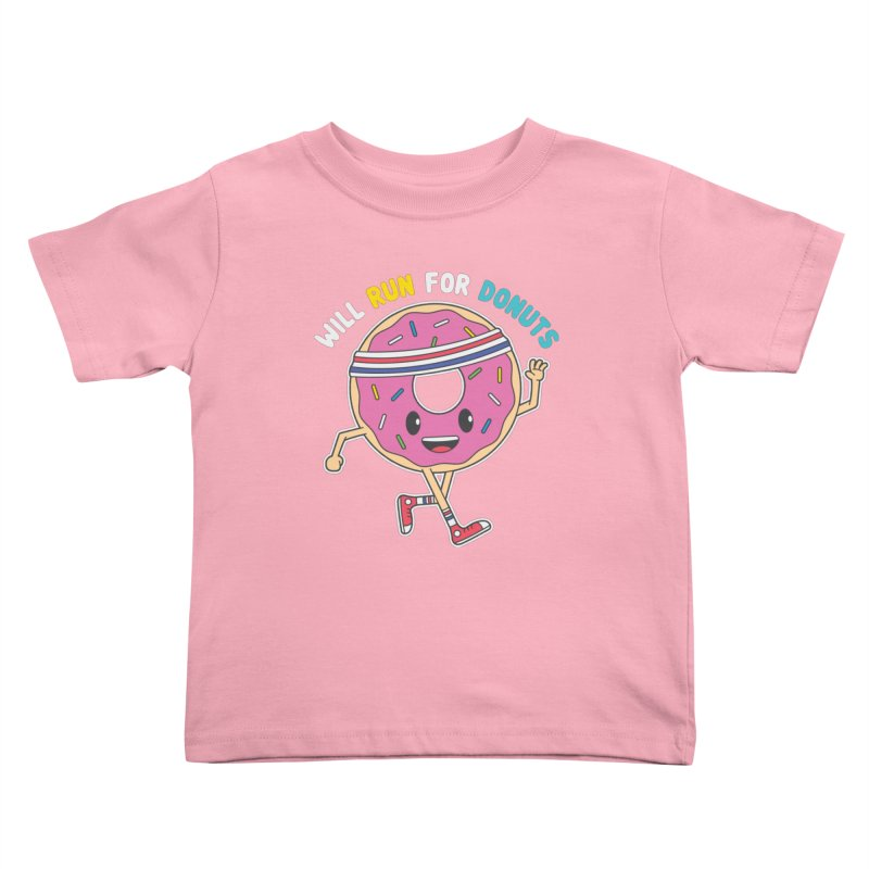 Will Run For Donuts Kids Toddler T-Shirt by Wasabi Snake