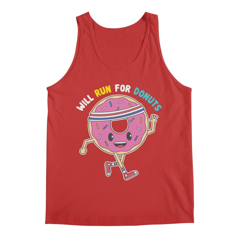 Will Run For Donuts Men's Regular Tank by Wasabi Snake