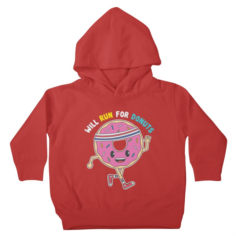 Will Run For Donuts Kids Toddler Pullover Hoody by Wasabi Snake