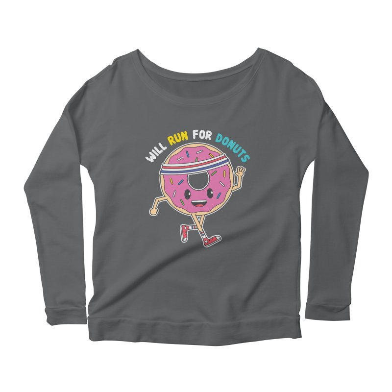 Will Run For Donuts Women's Longsleeve T-Shirt by Wasabi Snake