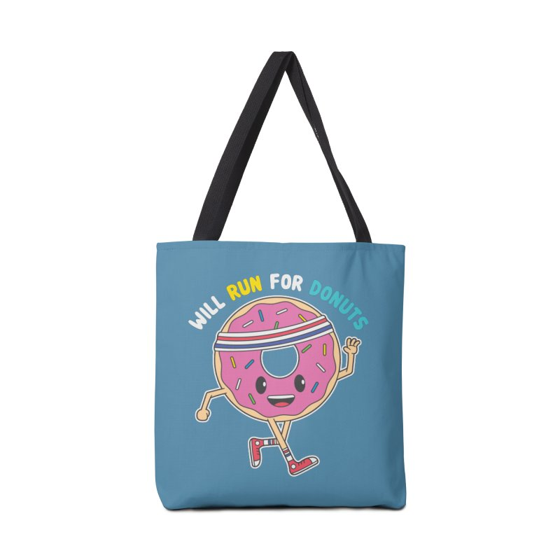 Will Run For Donuts Accessories Tote Bag Bag by Wasabi Snake
