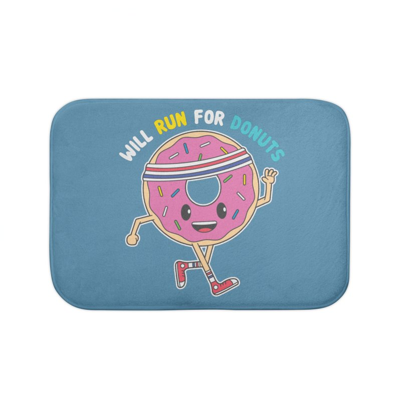 Will Run For Donuts Home Bath Mat by Wasabi Snake