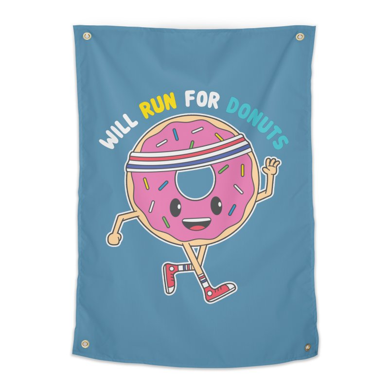 Will Run For Donuts Home Tapestry by Wasabi Snake