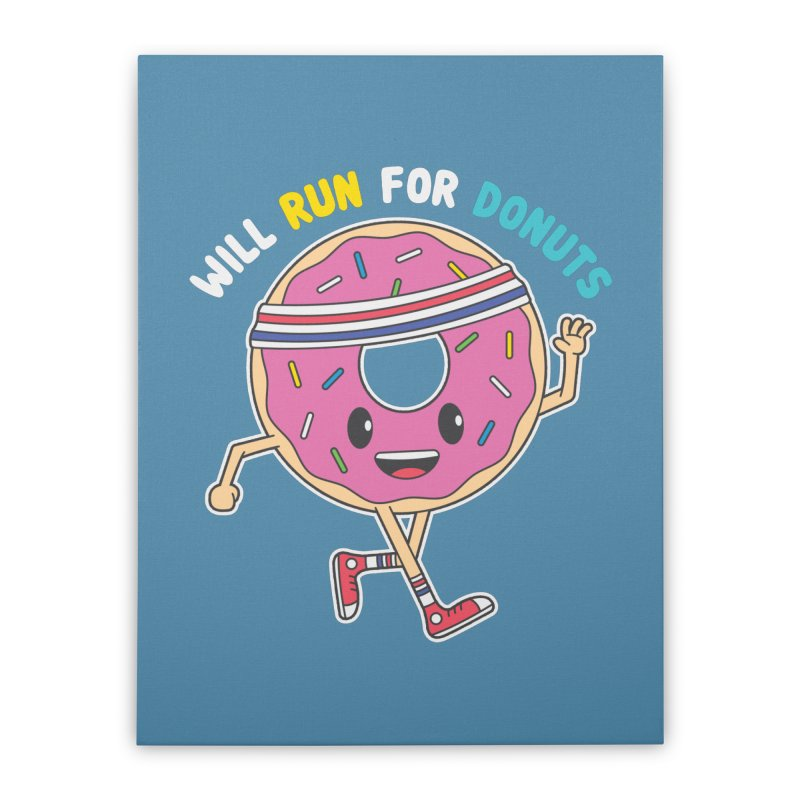 Will Run For Donuts Home Stretched Canvas by Wasabi Snake